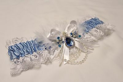 Wedding Garters, Something Blue Garters US SELLER