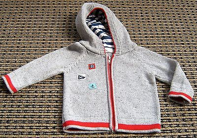 Kaboosh Baby Boys Hooded Cardigan Sz 0 - 3 Months