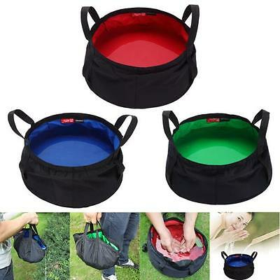 8.5L Portable Collapsible Outdoor Wash Camping Folding Basin Bucket Camping