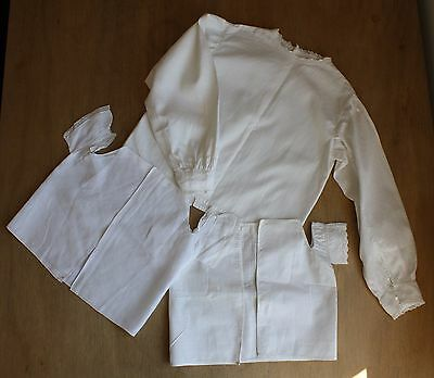 Victorian Children's Clothes / Edwardian Baby Clothes / Cotton Doll's Blouse