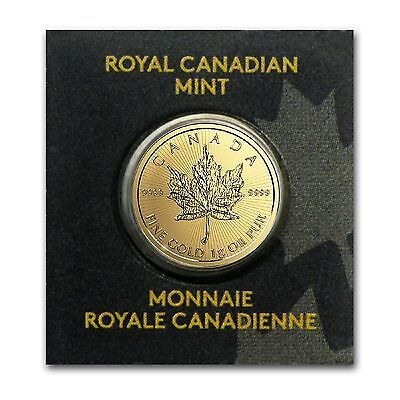 1 Gram Gold Coin - 2017 Canadian Mapleleaf 99.99% Pure Gold (Secure Post)