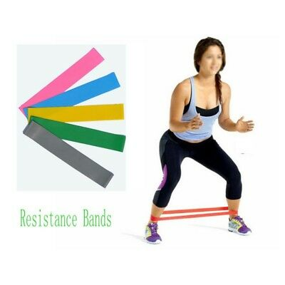 AU Fitness Gym Power Resistance Loop Band Yoga Plates Stretch Training Workout