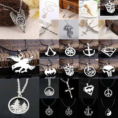 Hot Necklace Jewelry Compass Harry Potter Jesus Dragon Boxing Eagle Pendant Gift