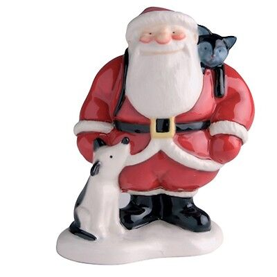 John Beswick Father Christmas with Dog & Cat Figurine
