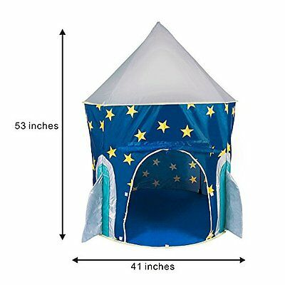 Rocket Play Tent,Sanmersen Foldable Kids Indoor/Outdoor Playhouse Gift for Kid
