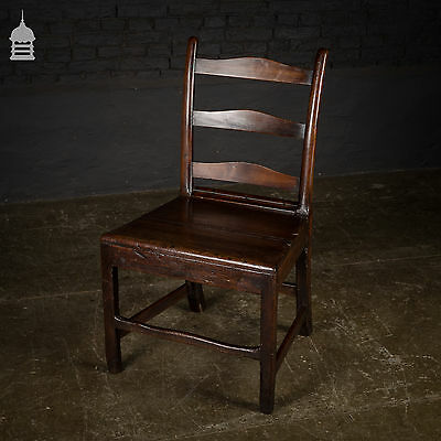 19th Century Fruitwood Scullery Chair with Oak Seat
