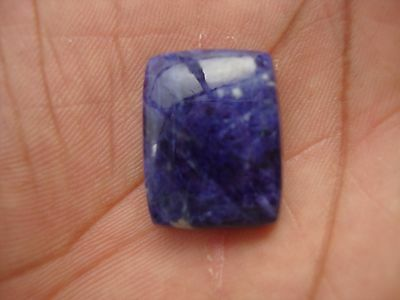 4 Cts Natural Blue Color Sodalite Loose Rectangular Gemstone