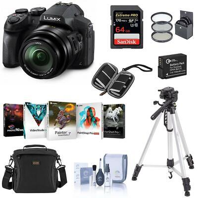 Panasonic Lumix DMC-FZ300 12.1MP Digital Camera With Premium Accessory Bundle
