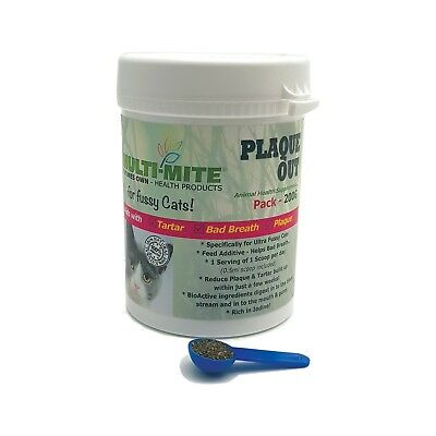PLAQUE OUT - for FUSSY Cats 200G - Plaque Off Bad Breath and Tartar Removal!