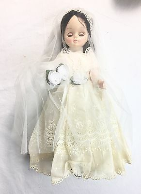 Vintage Bride Doll Effanbee Chipper | Vinyl 14 Inches Wedding Gown and Veil