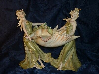 Jugendstil Mucha porcelain bisque statue porcelaine biscuit Art Nouveau nymphes