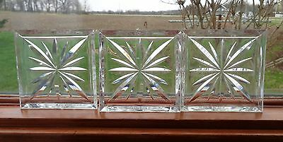 Vintage Lucite Starburst Coasters Set with Storage Box 8 Coasters