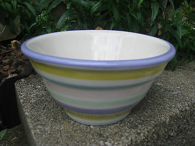 Hartstone Pottery Pastel Stripe 1-Rib Mini Serving Bowl
