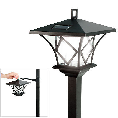 Led Solar Powered Outdoor Garden Light Lamp Post 1.5M Dual Function Rechargeable