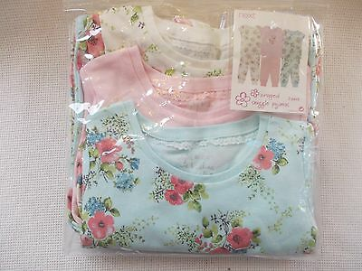 Toddler Girls Next Cotton Pyjamas X 3 Size Age 18-24 Months Bnwt Free Postage
