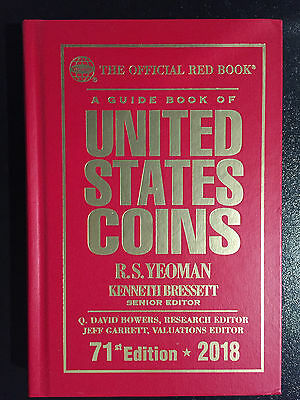 Whitman Official Red Book 2018 Guide to United States Coins Hard Cover BRAND NEW
