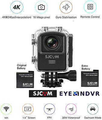 SJCAM M20 16MP Sports Action Camera extra Battery M20-BLK