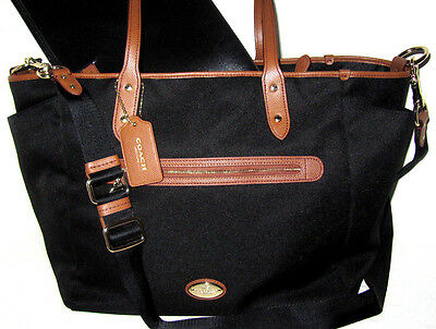 Coach Black Sawyer Multifunction Tote Laptop Baby Diaper Bag F37758 NWT $398