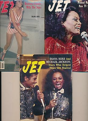 LOT (5) DIANA ROSS MICHAEL JACKSON JET MAGAZINES no label 1977 1981 1982 71 72