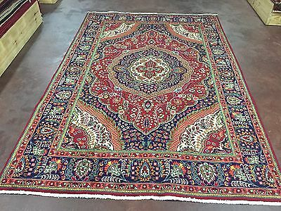 """Great Hand Knotted TABRIZ Persian Rug Carpet Floral  7x10,6'7""""x9'9"""""""