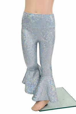 Kids 3T SUPER SPARKLY Blue/Gray Frostbite Bell Bottom Flare Pants Ready to Ship!