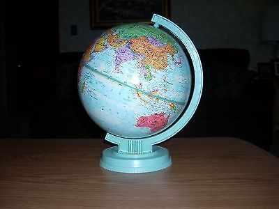 Replogle 9 in. Raised Relief World Scholar Globe,Leroy M. Tolman, Made in U.S.A.
