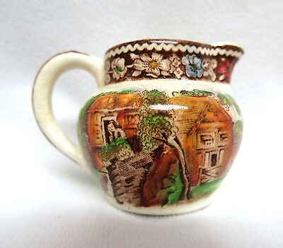 "Vintage Miniature ""Rural England"" Midwinter Pottery Pitcher Creamer ~ 2"""