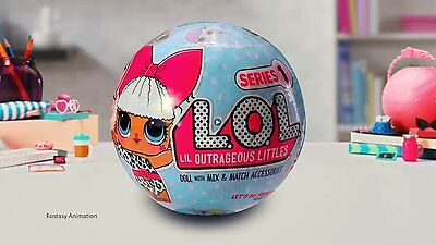 LOL LIL Outrageous Littles Surprise Doll Collectible Series 1 RETIRED L.O.L Ball