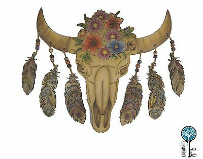 Adult Coloring Wood Bull Skull. DIY. Earnhardt Collection