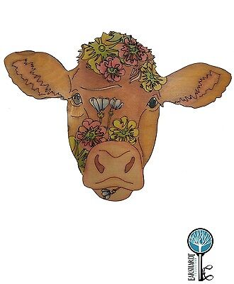 Adult Coloring Wood Cow. DIY. Earnhardt Collection