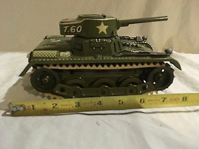 Gama T.60 Wind up Tank Germany 1940s 7 1/2 inch