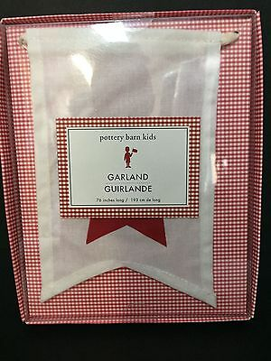 """76"""" Pottery Barn Kids 4th Fourth of JULY GARLAND Star Banner Holiday Gift NEW"""