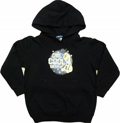 NEW Disney Frozen Hoodie Boys Girls Kids Olaf Navy Hooded Top 5 6 7 8 9 10 years