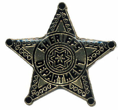 Sheriff's Department Star Police Lawman Badge Lapel / Hat Pin Tie Tack New