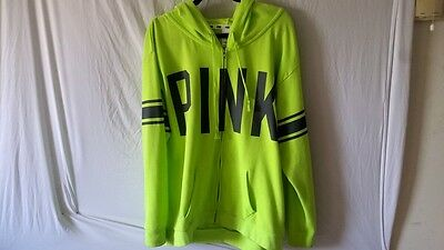 Victoria's Secret Pink L Oversized Green Hoodie Shirt Pullover  Sweatshirt Large
