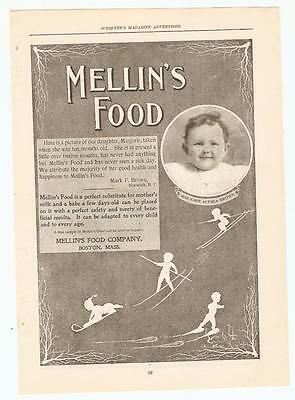 Antique Original 1899 FULL PAGE Print Ad / Mellin's Food - Boston Mass