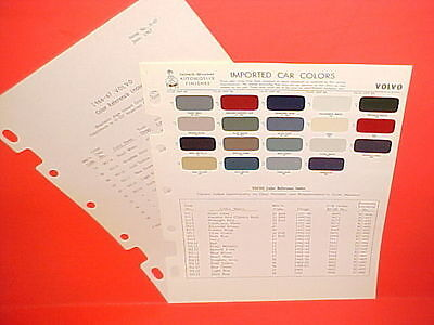 1957-1965 Volvo P1800 Sport Coupe 122S Sedan Pv544 Pv445 Pv444 Wagon Paint Chips
