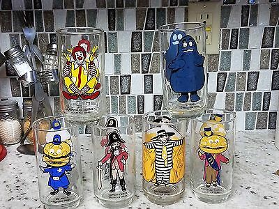McDonald's COLLECTOR SERIES Character Glasses Vintage 1977 - Complete Set Of 6!