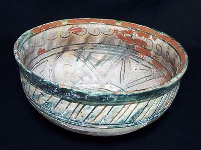 Ancient Persian Islamic Samanid Pottery Bowl, C.10th Century A.D.