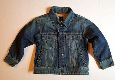 GAP KIDS Youth Boys/Girls Trucker Style Denim Jean Jacket Size XS (4-5)
