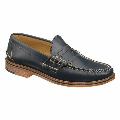 Sebago Mens Westbrook Class Casual Dress Shoes Sz 12.5 New Navy Leather Slip On