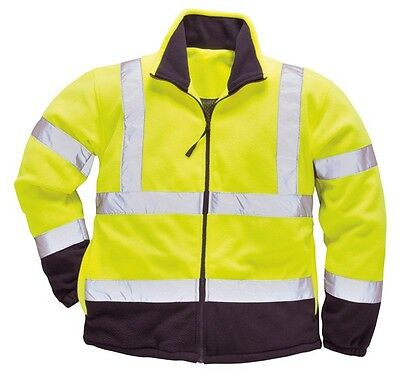 Portwest F301YNRL Yellow & Navy Hi Vis Two-Tone Fleece - Large New