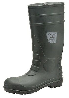 857 Green Safety Wellingtons S5 Uk4 FW95GNR37 Portwest New