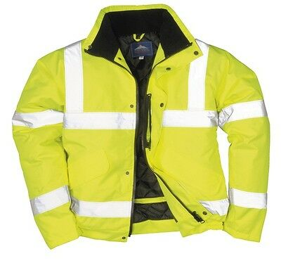 695 Yellow Hivis Bomber Jacket Med S463YERM Portwest Genuine Top Quality Product
