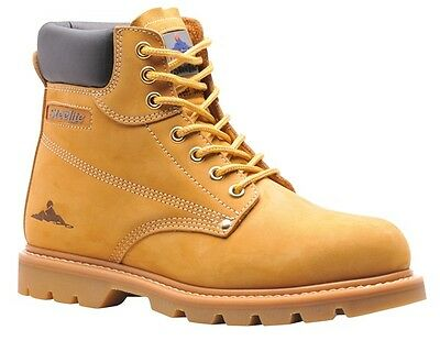 193 Honey Welted Safety Boot Uk9 FW17HOR43 Portwest New