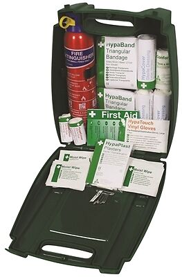PCV First Aid Kit with Fire Extinguisher Safety First Aid K378 New