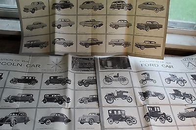 3 Vintage Car/Truck Posters Evolution of the Ford, Mercury Lincoln Motor Co