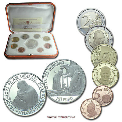 MORUZZI - Vatican Pope Francis I OFFICIAL PROOF Set 2016 + 20 Euro Silver PROOF