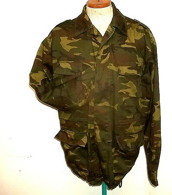 BDU field shirt leaf camouflage army military large size little worn neat
