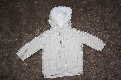 Baby Girl's Cardigan/Jacket Age: 0-3 Months (Fluffy Lining)